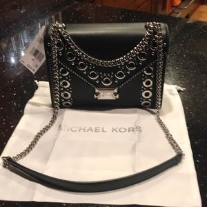 Michael Kors black leather Whitney handbag.